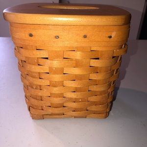 Longaberger Tall Tissue Basket with Lid